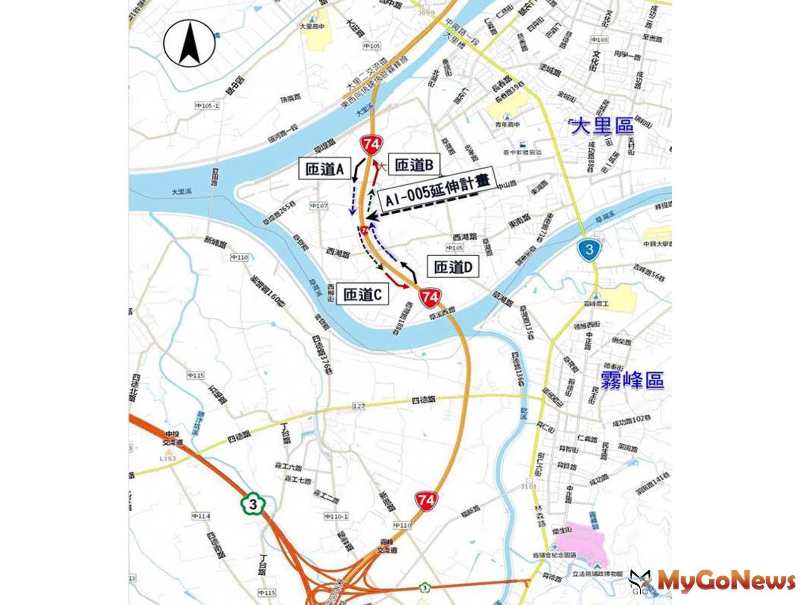 台74線增設「草湖匝道」,用地獲全數所有權人同意(圖:台中市政府) MyGoNews房地產新聞 區域情報