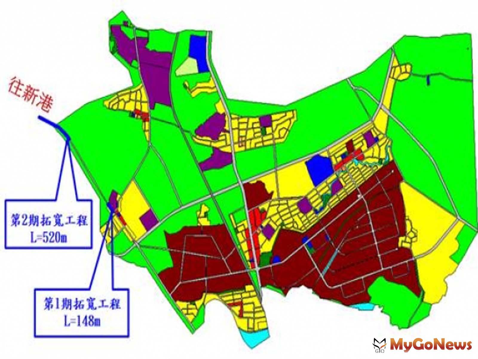 民雄頭橋地區都市計畫11號道路第二期拓寬工程,近期開闢,將帶動民雄鄉之整體發展(圖:營建署) MyGoNews房地產新聞 區域情報
