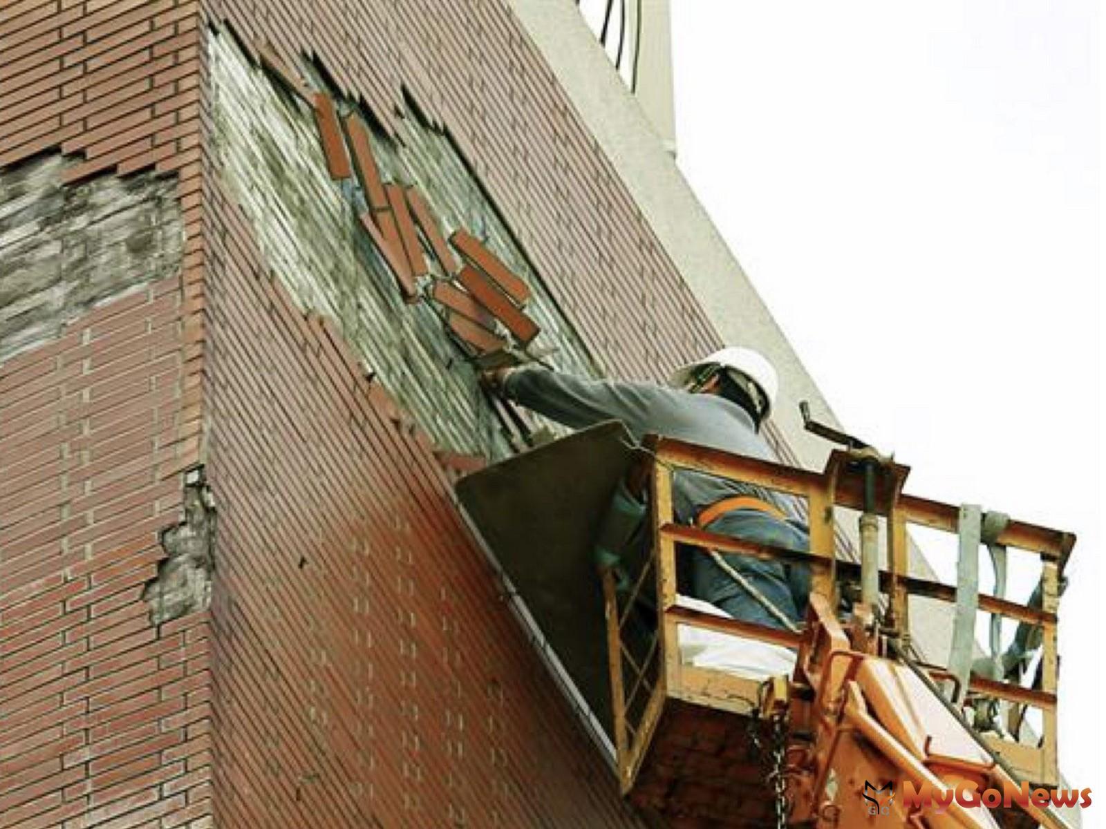 杜絕從天而來的危險,具潛在危險建物外牆,限期改善及申報納管(圖:台北市政府) MyGoNews房地產新聞 區域情報