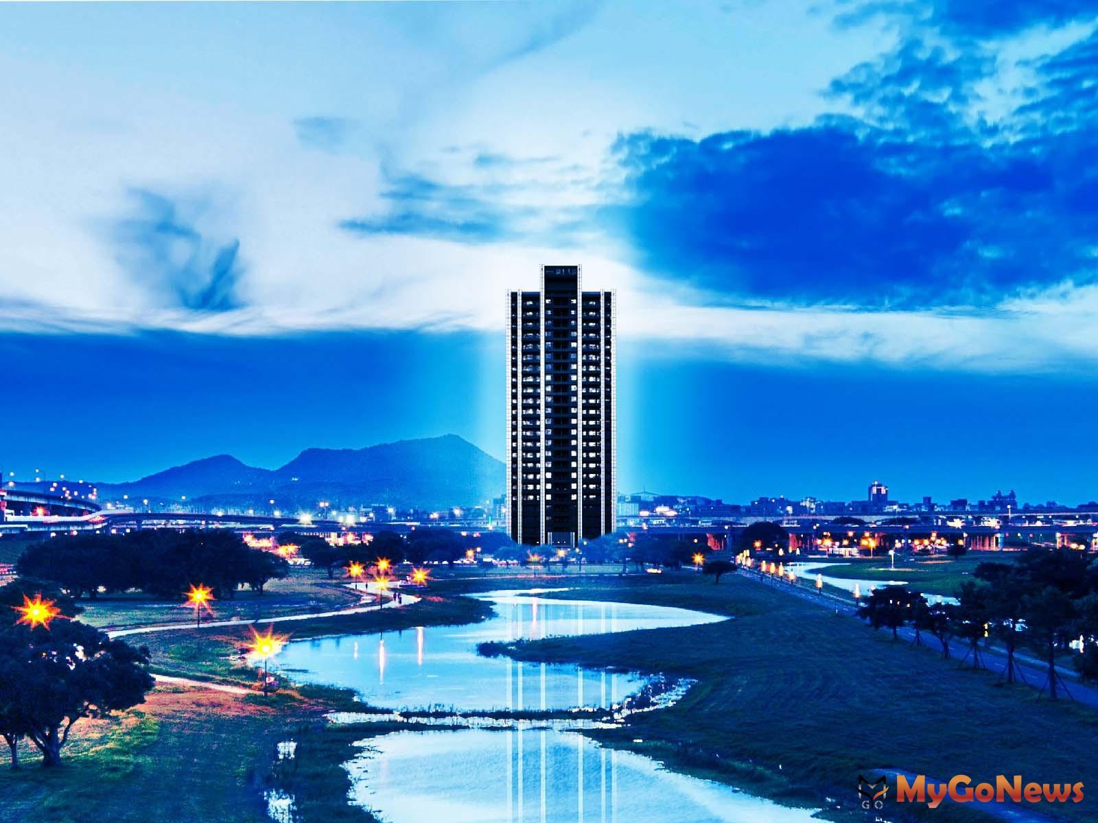 水岸綠地捷運一次到位,台北人超買單,「聯上大喜」面水岸、424公頃大都會公園第一排(圖:業者提供) MyGoNews房地產新聞 熱銷推案