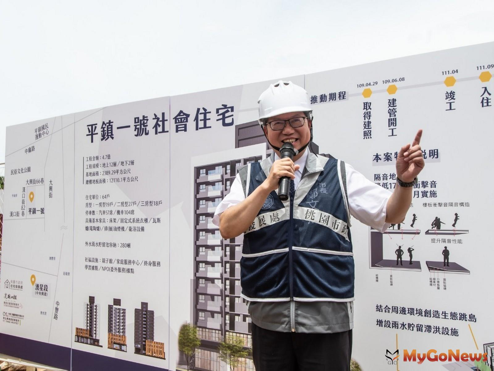 平鎮一號社宅2022年完工入住,結合多元服務打造優質的居住環境(圖:桃園市政府) MyGoNews房地產新聞 區域情報