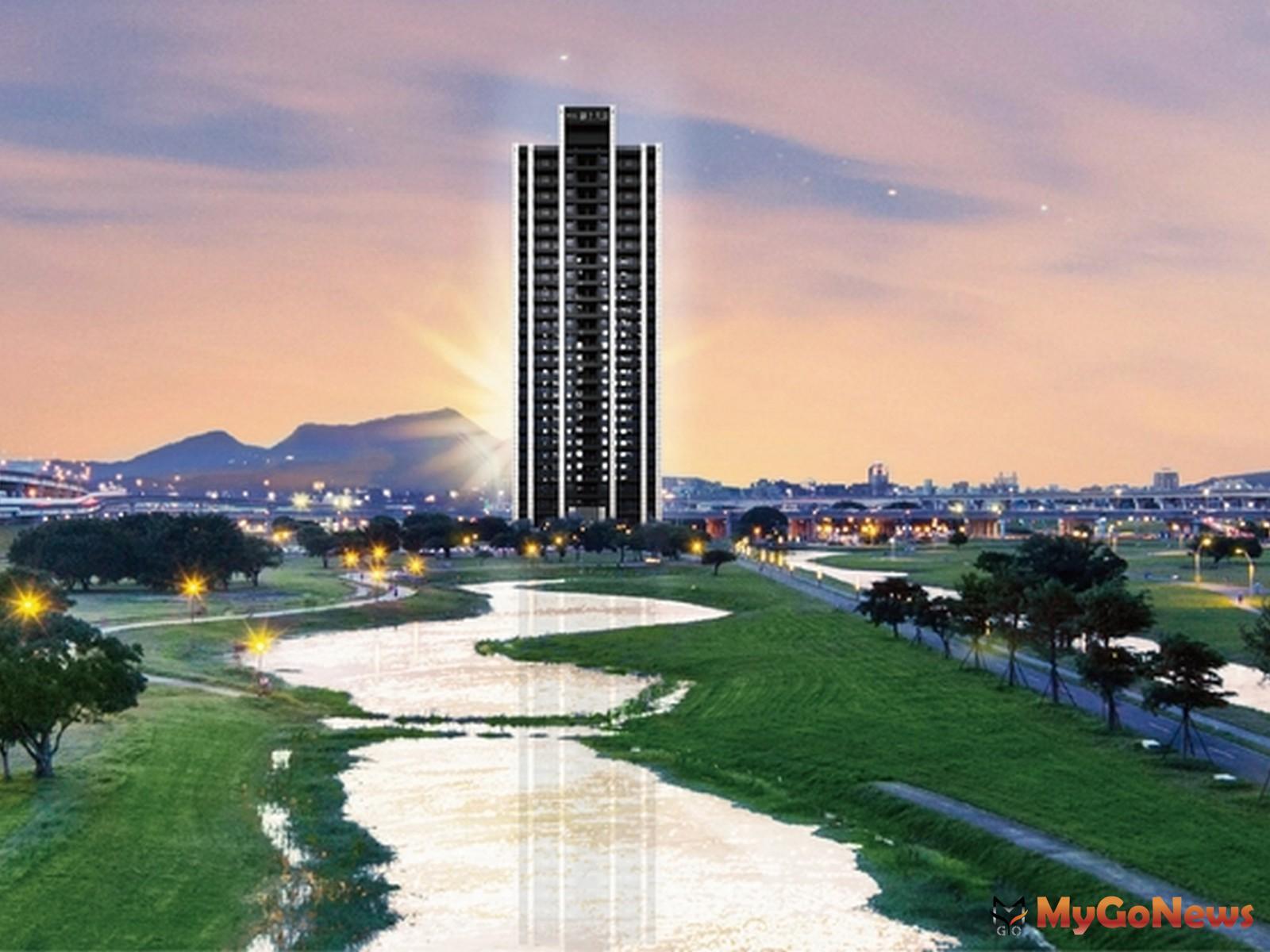 「聯上大喜」挾著永久無限棟距的水岸綠地景觀,並以台北市高級住宅的規格導入新北市(圖:業者提供) MyGoNews房地產新聞 熱銷推案