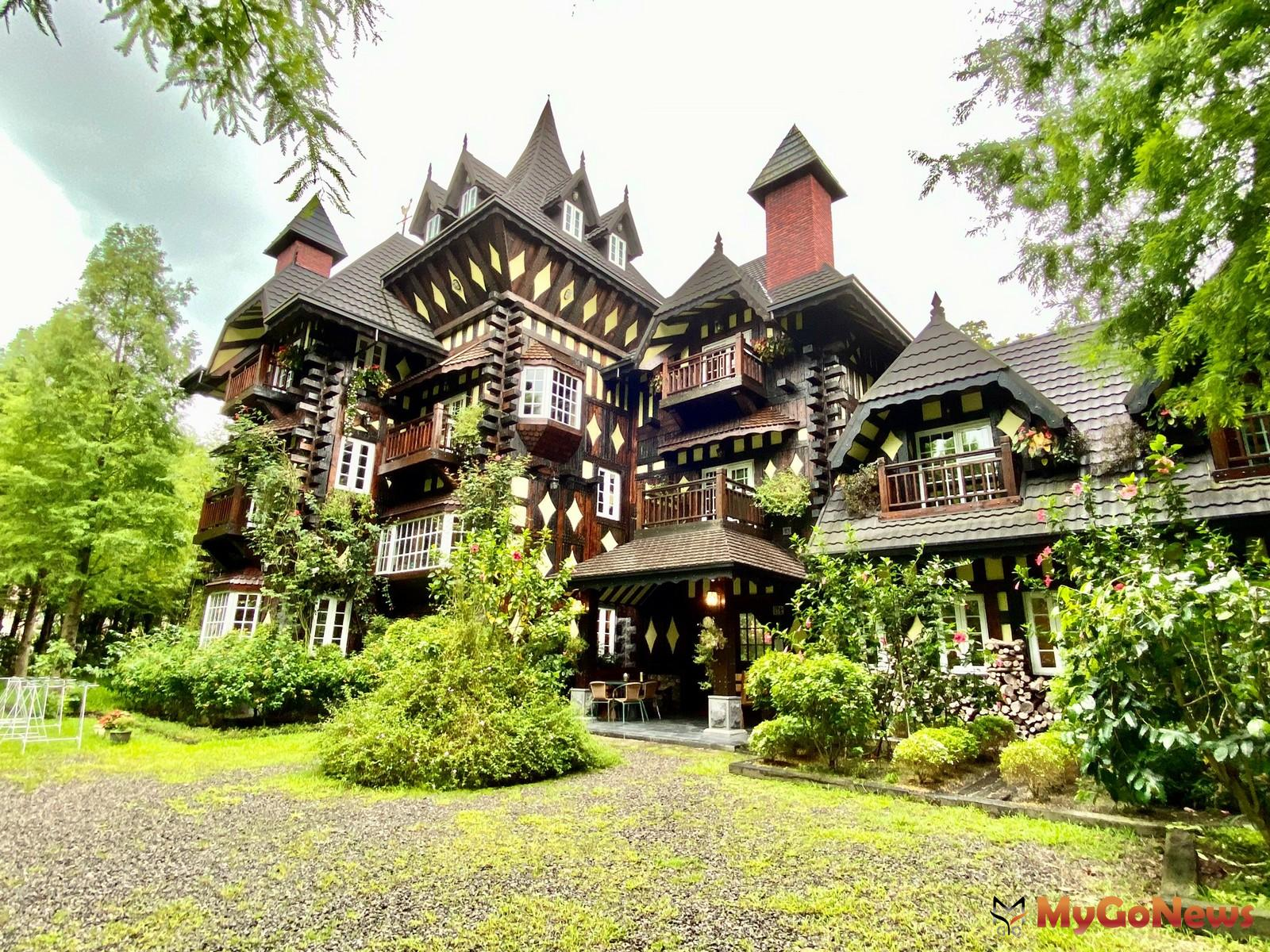 英格蘭莊園的城堡外觀極具特色,吸引許多網美拍照打卡。(台灣房屋草屯中興特許加盟店提供) MyGoNews房地產新聞 市場快訊