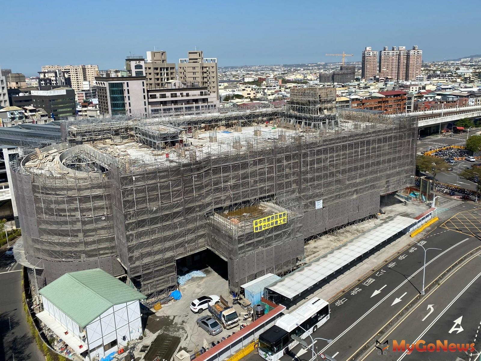 豐原轉運中心結構體工程完成 預計2021年底完工(圖/台中市政府) MyGoNews房地產新聞 區域情報