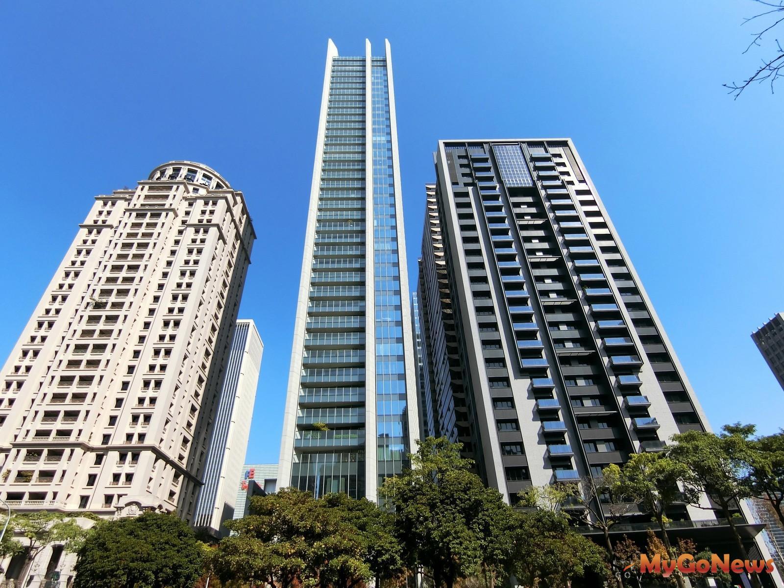 豪宅「宝格」(中央建物)的基地部分土地,是台中首見300萬單價的精華地。(台灣房屋集團趨勢中心提供) MyGoNews房地產新聞 市場快訊