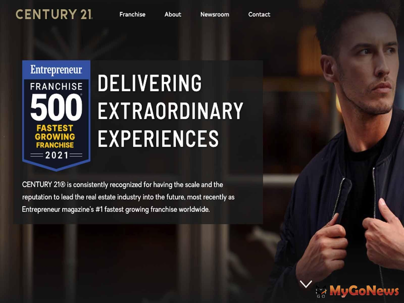 21世紀不動產(CENTURY 21®)獲得美國商業雜誌《Entrepreneur》雜誌於評為成長第一名的連鎖加盟品牌(圖/21世紀不動產) MyGoNews房地產新聞 市場快訊