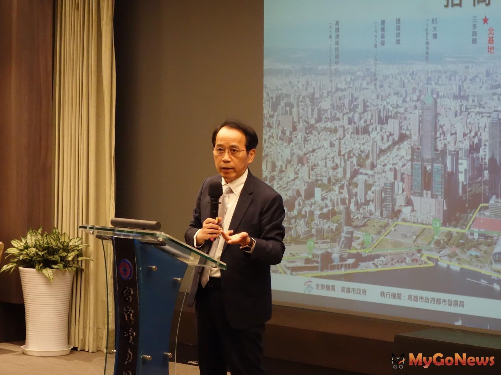 林欽榮副市長表示「特貿三」基地所在的「亞洲新灣區」,是高雄待擦亮的珍珠,搭配5G AIot創新園區的發展,潛力無窮(圖/仲量聯行) MyGoNews房地產新聞 市場快訊