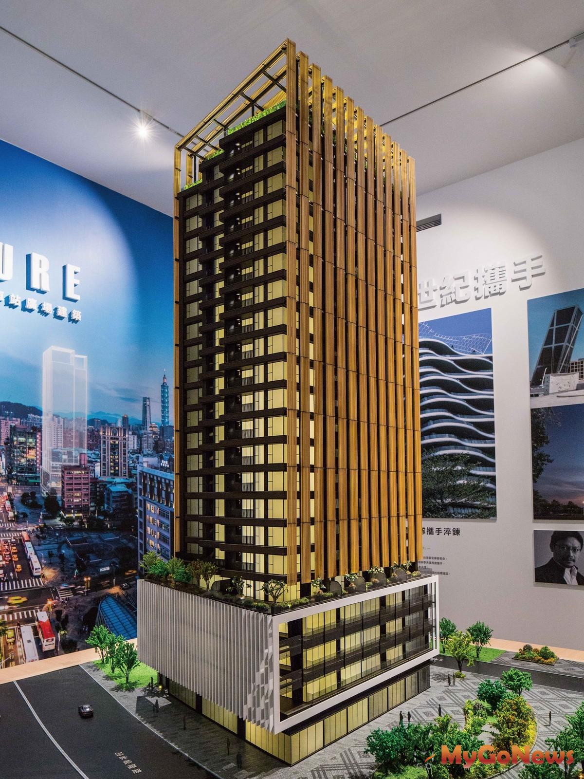 信松廣場建築模型。(圖/業者提供) MyGoNews房地產新聞 熱銷推案