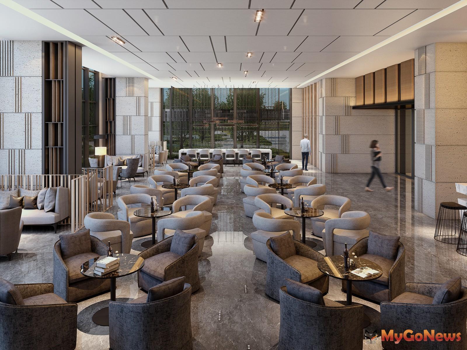 景觀Lounge Bar提供輕食、飲品,享受飯店式的禮遇生活。圖/ 興富發提供 MyGoNews房地產新聞 熱銷推案