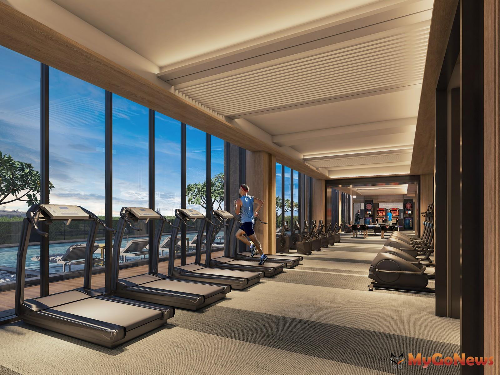 下樓就能運動健身,揮灑汗水的同時,還能一邊欣賞海灣景色。圖/ 興富發提供 MyGoNews房地產新聞 熱銷推案