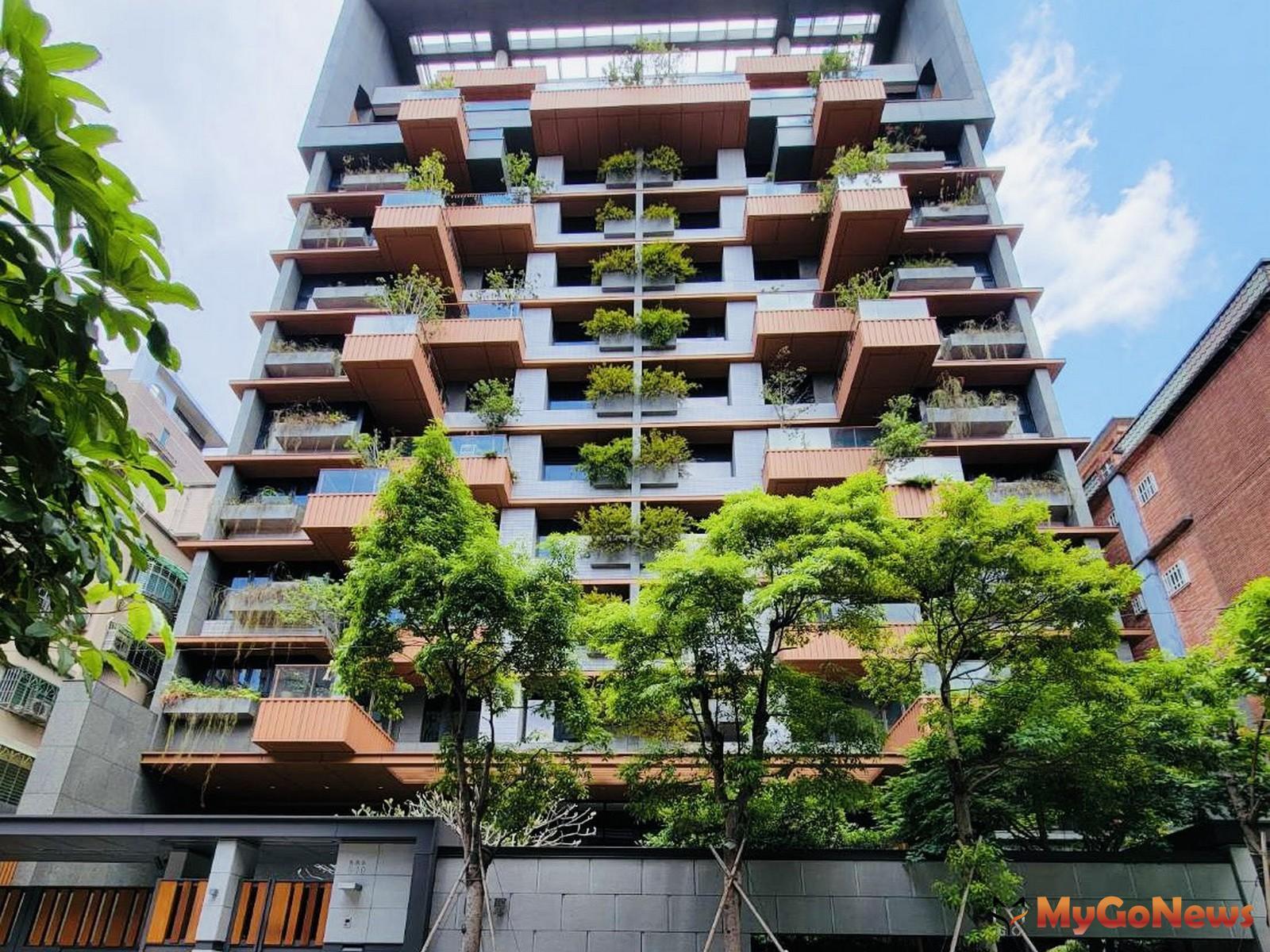 新北市成為六都中新興綠建築最多的城市,圖為位於新北蘆洲的綠建築-陸江聚(圖-台灣房屋) MyGoNews房地產新聞 市場快訊