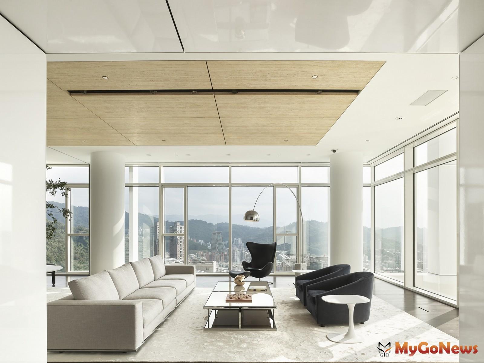 高樓層採單層獨戶258坪,設計獨立開放的自由通透空間,而圓柱成為室內的一大特色(圖/業者提供) MyGoNews房地產新聞 熱銷推案