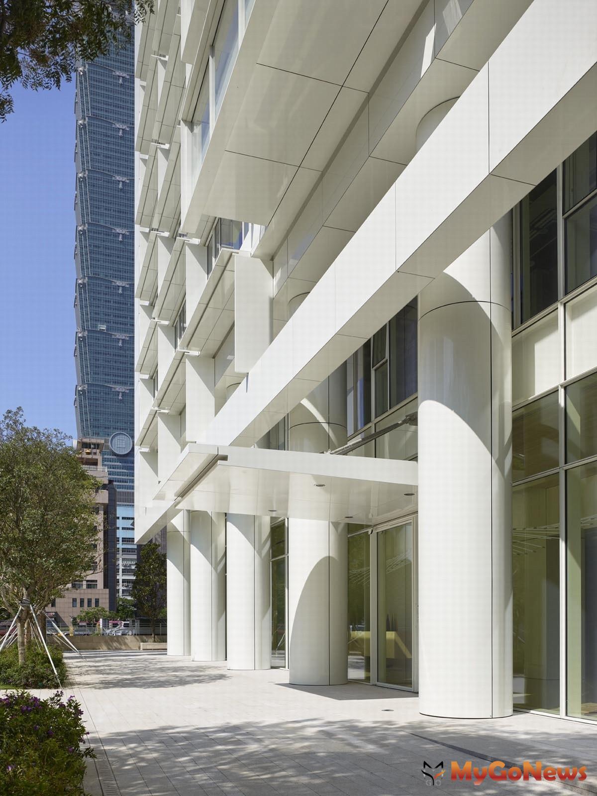 「琢白」的外觀到公設皆出於Richard Meier之手(圖/業者提供) MyGoNews房地產新聞 熱銷推案