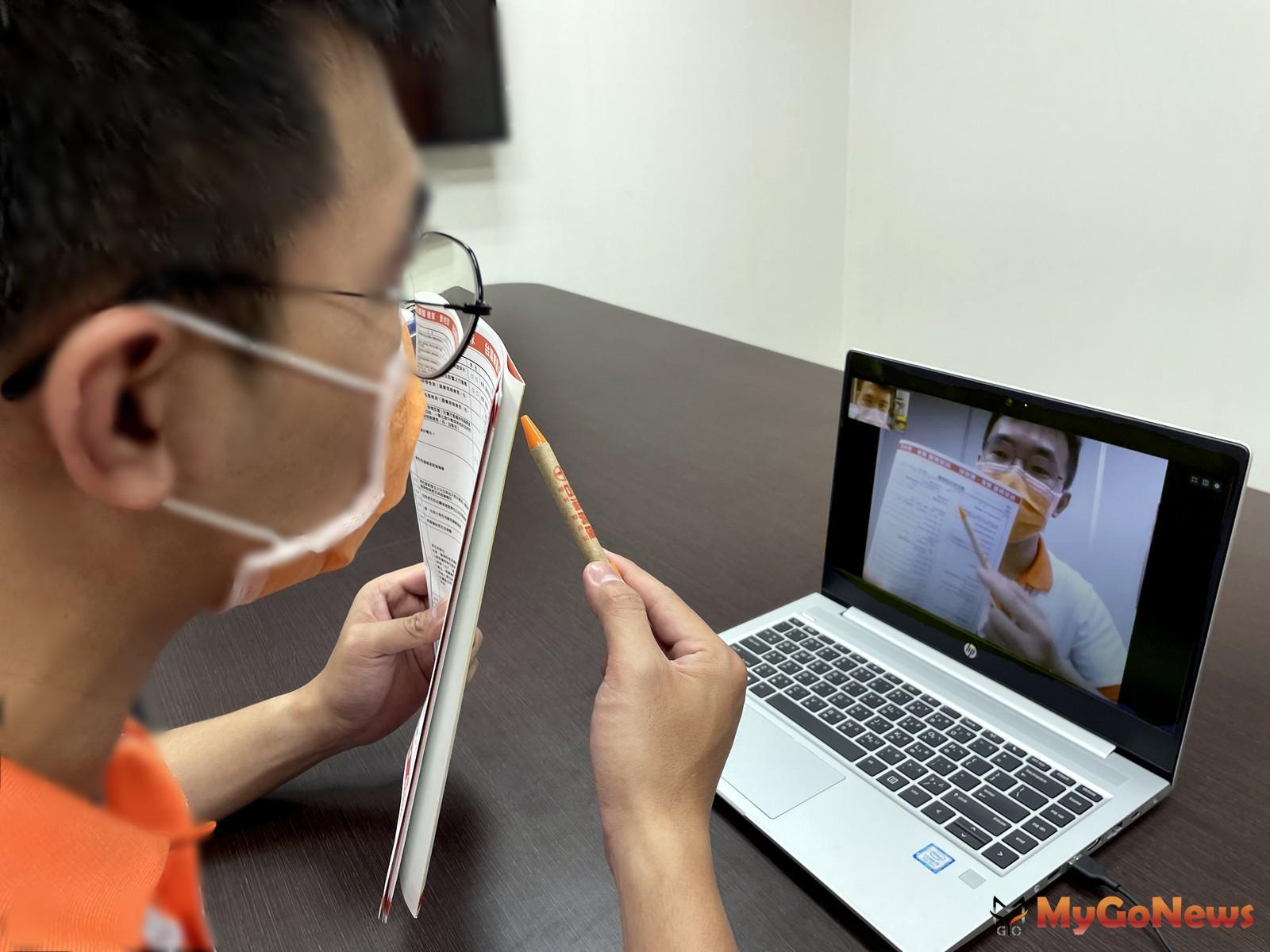 台灣房屋業務們化身為「直播主」,透過視訊解說全程零接觸,就能完成物件委託銷售程序(圖/台灣房屋) MyGoNews房地產新聞 市場快訊