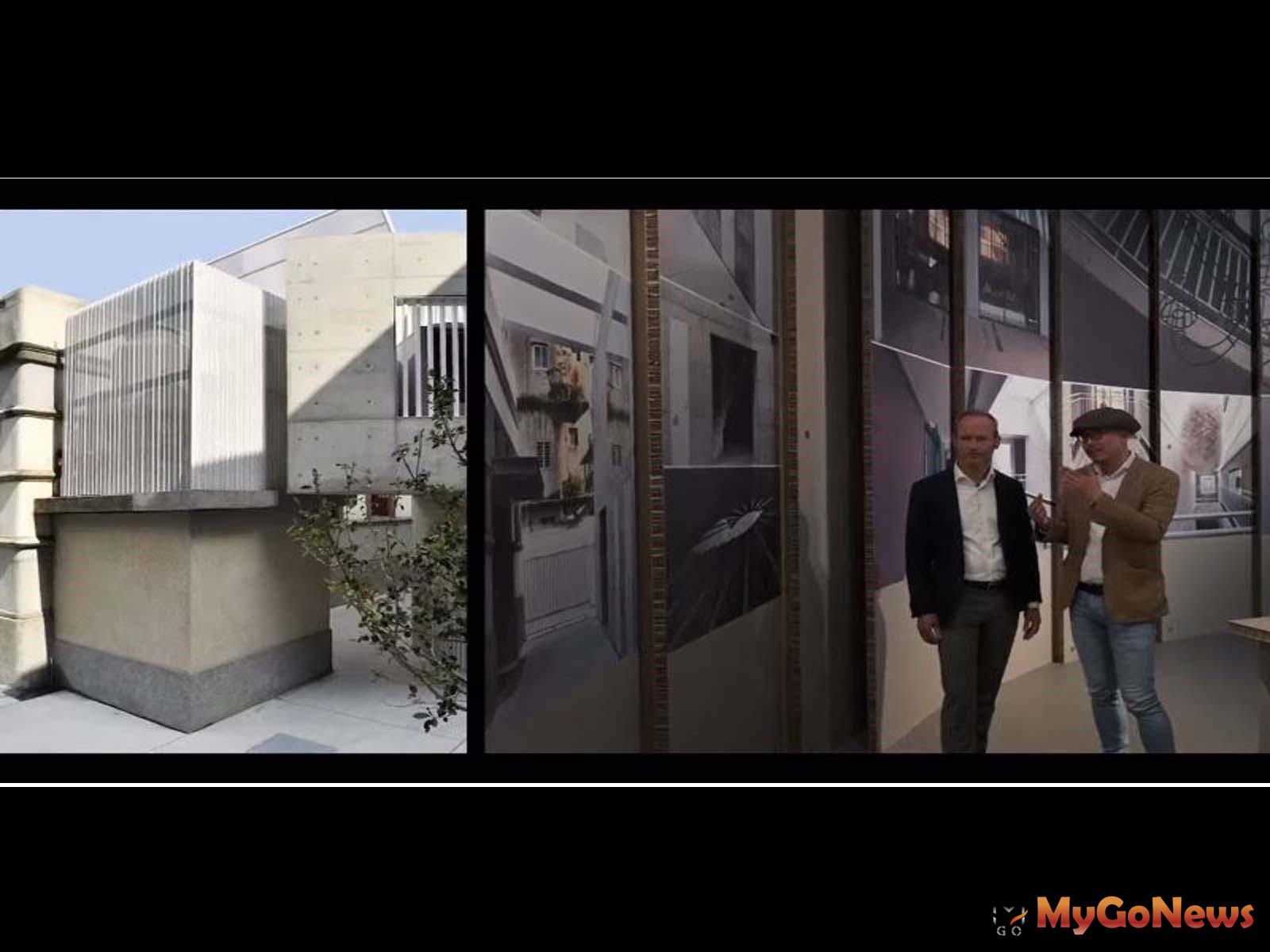 策展人裘振宇建築師向慕尼黑建築博物館館長Andres_Lepik介紹展出之台灣建築案例(圖/文化部) MyGoNews房地產新聞 Global Real Estate
