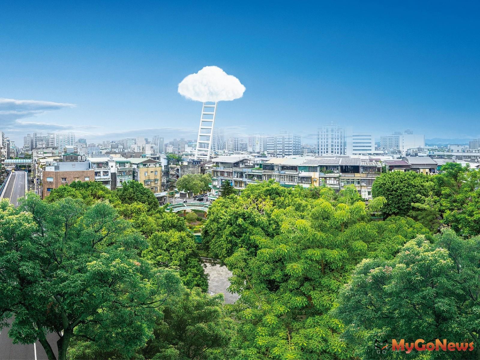 「原樹」為稀有的大街廓黃金角地,且部分戶別看出去為錦州公園,享有舒適的居住尺度與視野(圖/業者提供) MyGoNews房地產新聞 熱銷推案