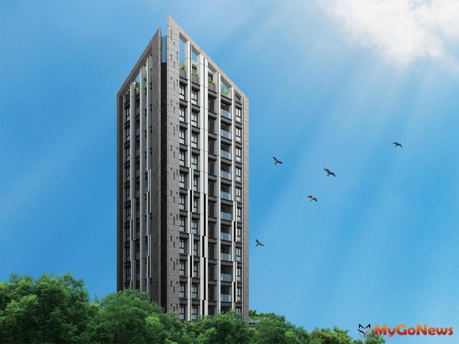 北市中山區預售新案「原樹」建築日景3D模擬(圖/業者提供) MyGoNews房地產新聞 熱銷推案