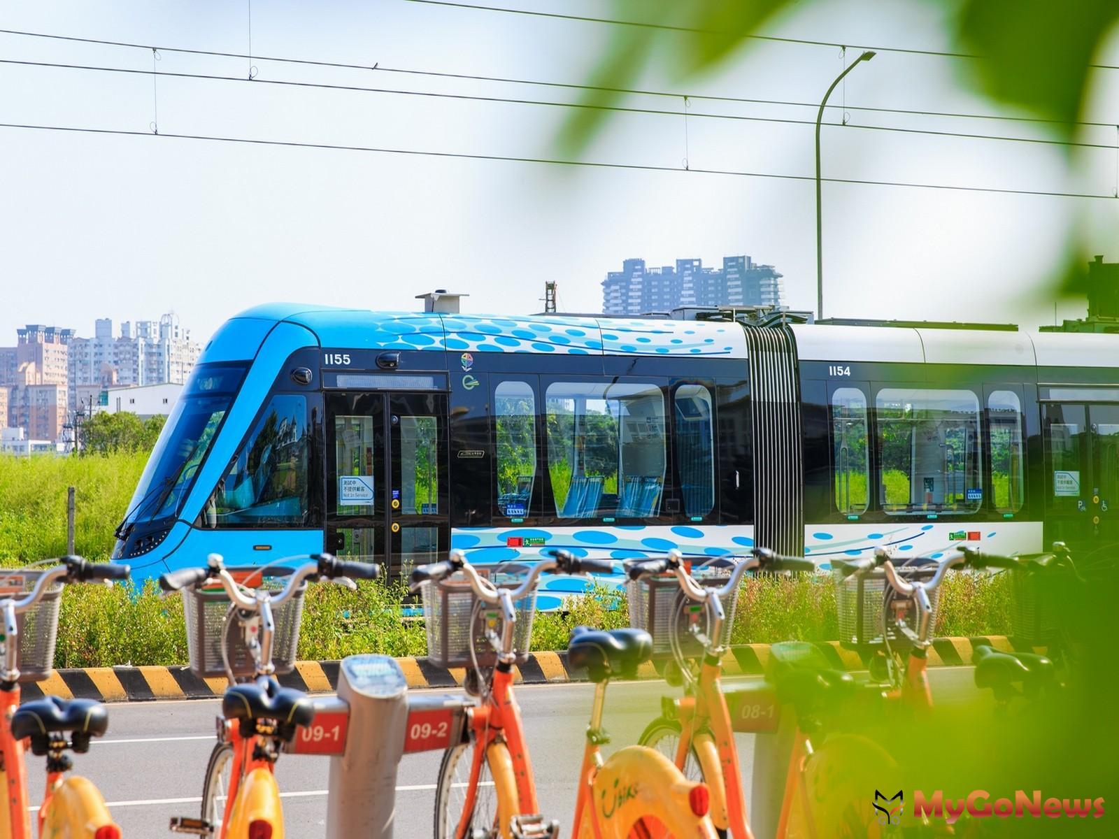 淡海輕軌改寫淡水核心地段,也帶來買氣,成為北台灣首個輕軌開通的首購熱區,用軌城洗脫過往鬼城印象(圖/業者提供) MyGoNews房地產新聞 熱銷推案