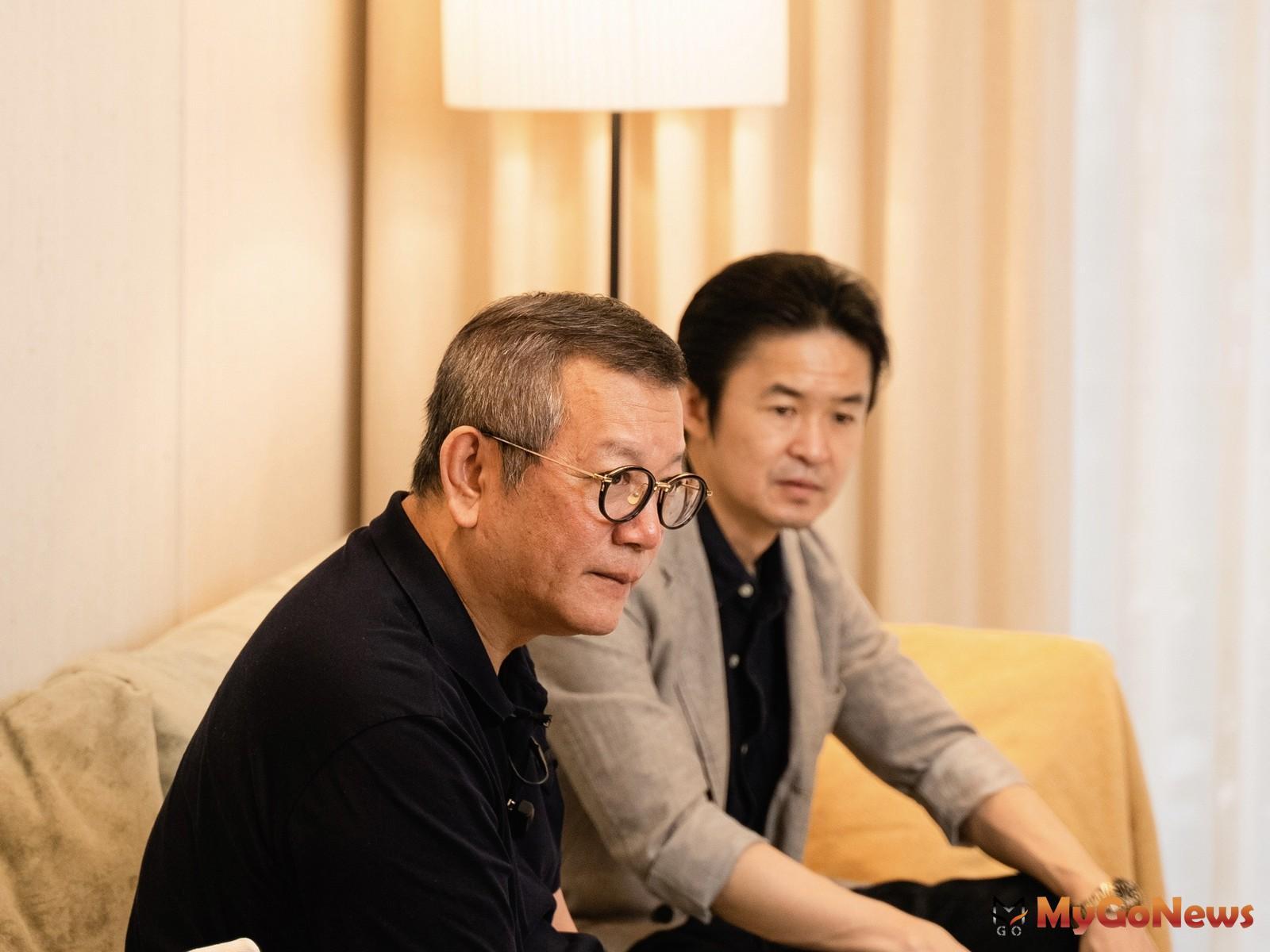 璞園建築團隊董事長李忠恕(左)與Panasonic總經理真下宗治(右)。(圖/業者提供) MyGoNews房地產新聞 熱銷推案