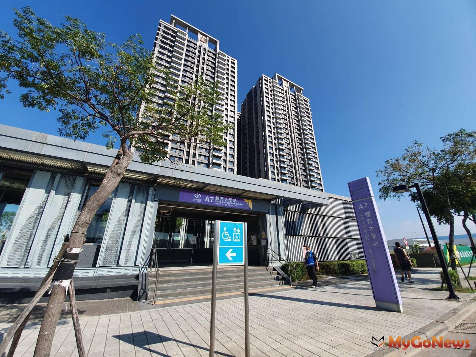 機捷A7體育大學站(圖/台灣房屋) MyGoNews房地產新聞 市場快訊