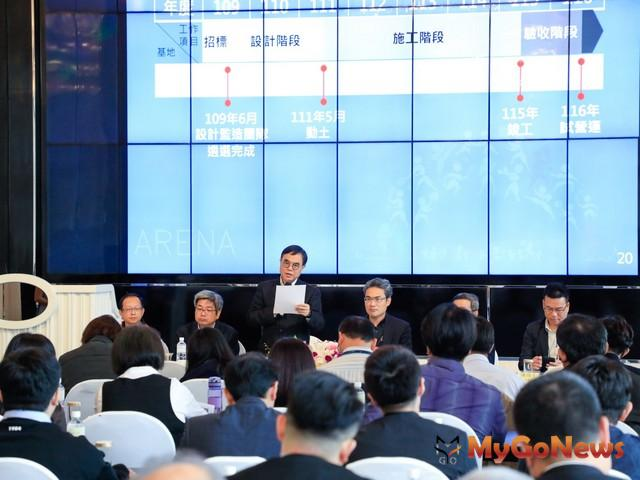 市府都市發展局長黃文彬表示,「台中市巨蛋體育館」預計於2022年動土(圖:台中市政府) MyGoNews房地產新聞 區域情報