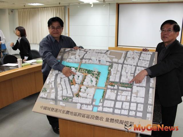 目前擬定方案將兩棟中國城主體拆除,變更為台南市新地標市民廣場。(圖:台南市政府) MyGoNews房地產新聞 區域情報