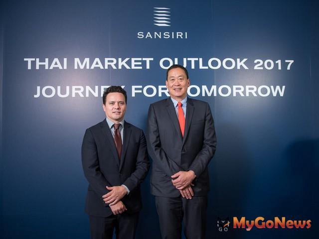Sansiri 總裁 Srettha Thavisin(右)與國際業務主管Cobby Leathers(左)合影 MyGoNews房地產新聞 Global Real Estate