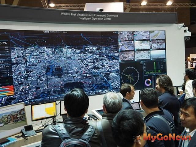 華為在2016巴塞羅那全球智慧城市博覽會展示城市智能運營中心(圖:美通社) MyGoNews房地產新聞 Global Real Estate