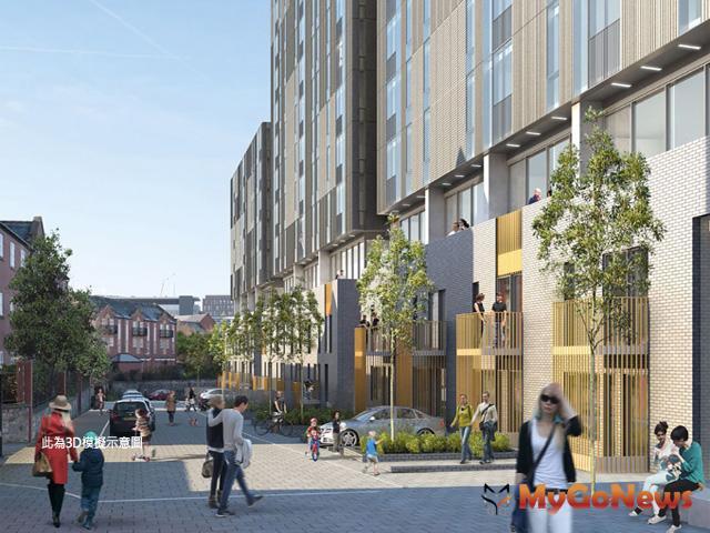 自備頭期款新台幣200萬起,錢進英國最佳投資城市(圖為3D模擬示意圖) MyGoNews房地產新聞 Global Real Estate