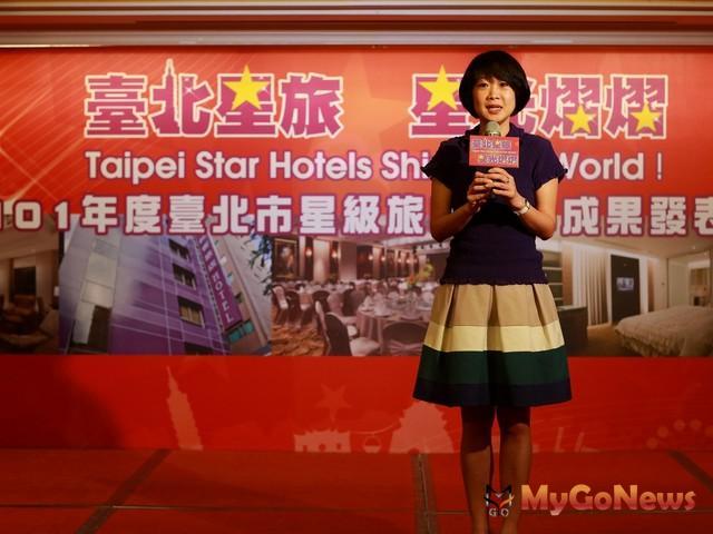 觀光傳播局局長趙心屏表示,擬定逐年改善更新計畫,讓旅館硬體服務設施更加優質。(圖:台北市政府) MyGoNews房地產新聞 市場快訊