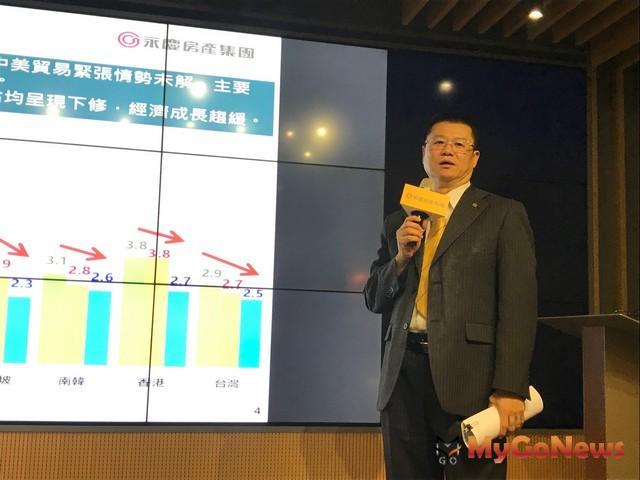 永慶房產集團業務總經理葉凌棋表示:2019年上半年交易量估14.0-14.3萬棟之間,較2018年同期成長3%-5%左右 MyGoNews房地產新聞 市場快訊