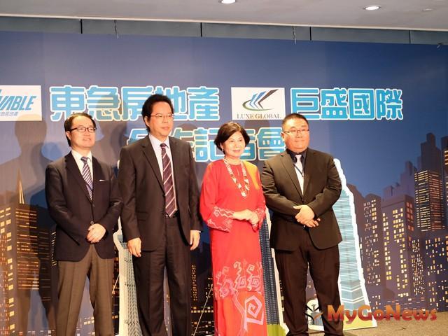 由左至右,東急房地產木內亮董事長、拿督劉康捷、馮淑娟大使、ERIC董事長(圖:業者提供) MyGoNews房地產新聞 Global Real Estate