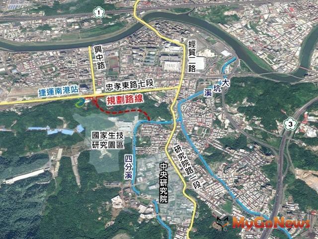 國家生技研究園區聯外道路案 預計2024年9月完工(圖:台北市政府) MyGoNews房地產新聞 區域情報