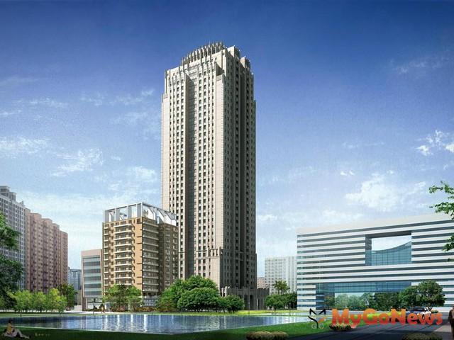 新完工的「總太東方帝國」外觀採新古典建築,樓高39層位於文心路上近市政北一路口。 MyGoNews房地產新聞 熱銷推案