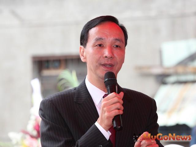 新北市長朱立倫表示:相信林口未來的發展將更為蓬勃,歡迎更多鄉親入住宜居的林口。 MyGoNews房地產新聞 熱銷推案
