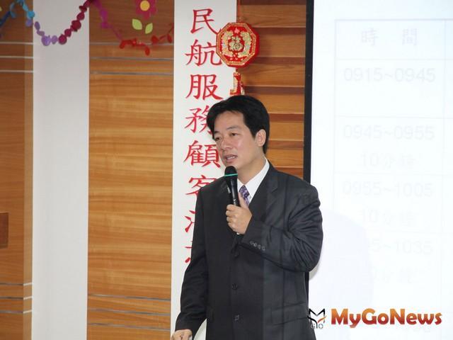 賴清德說,合併升格後,市府基於施政延續性,對於小巨蛋興建計畫,主動而且積極的協助台南大學(圖:台南市政府) MyGoNews房地產新聞 市場快訊