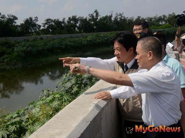 賴清德表示,淹水問題一定要解決,地方才會有發展,並能保障民眾生命財產安全。(圖:台南市政府) MyGoNews房地產新聞 區域情報