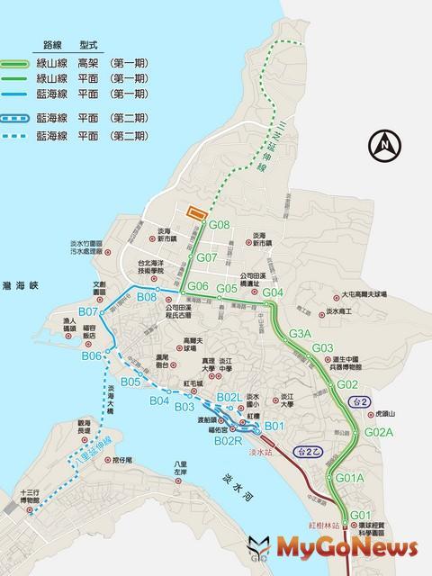 淡海輕軌 第二期藍海線基本設計21日完成地方說明會 MyGoNews房地產新聞 區域情報
