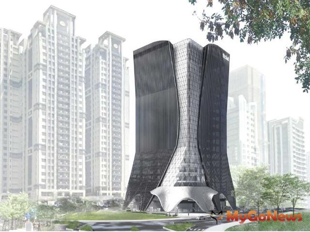 儒鴻企業新莊副都心企業總部,規劃地下4層樓、地上19層建築。圖/儒鴻企業提供 MyGoNews房地產新聞 專題報導