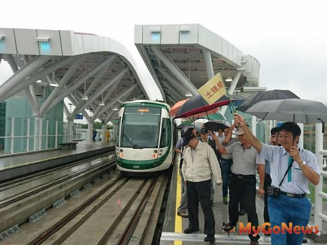 交通部於6月15日完成高雄環狀輕軌C8-C12站履勘(圖:交通部) MyGoNews房地產新聞 區域情報