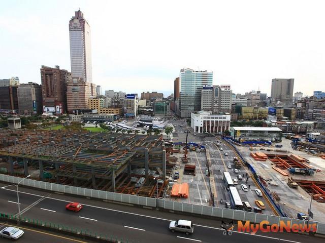 台北火車站周邊除雙子星大樓、新光摩天大樓之外,基泰忠孝西路開發案也將成地標之一。 MyGoNews房地產新聞 市場快訊